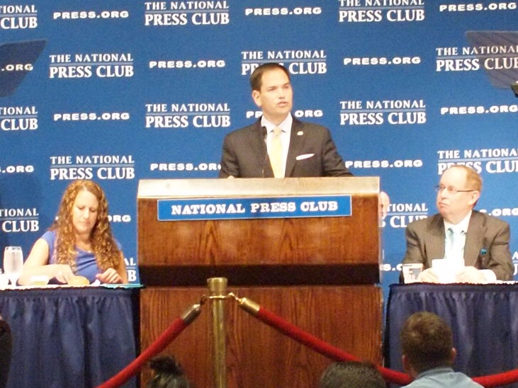 photo 1 for Marco Rubio at the NPC